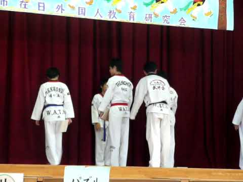 チュギハッキョin少林寺小学校WATAテコンドー演武