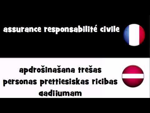 Traduction en 20 langues # assurance responsabilité civile