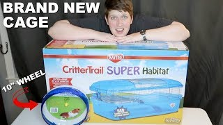 NEW CRITTERTRAIL SUPER HABITAT HAMSTER CAGE