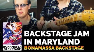 Joe Bonamassa Official - Backstage Jam in Maryland