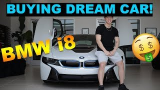 19 Year Old Buys Dream Car Using ALL CASH!! (BMW i8)
