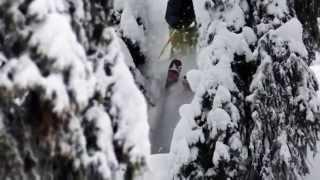Удивительный, экстремальный фрирайд на горных лыжах!