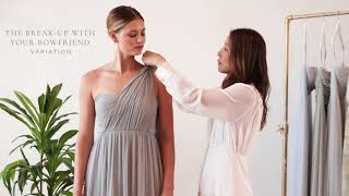 The Aidan | How To Wear And Tie Jenny Yoo Convertible Chiffon Bridesmaid Dress