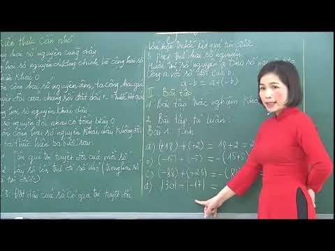 Môn Toán khối 6 - Ôn tập cộng trừ số nguyên - Nguyễn Thị Bích Hạnh- Trường THCS Bình Thuận