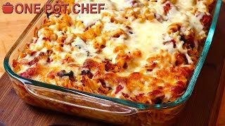 Cheesy Beef and Spinach Pasta Bake | One Pot Chef