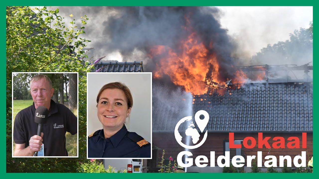 Brand verwoest schuur in Brummen