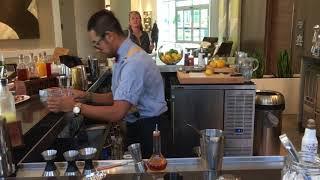 Making a Manhattan Cocktail