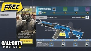 *NEW* FRIEND INVITE FREE EPIC SKIN AK117 Cyberspace & More in Call of Duty Mobile