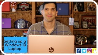 How to set up a Windows 10 computer- An HP Laptop unboxing