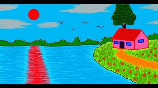 Draw House With Ms Paint 123vid