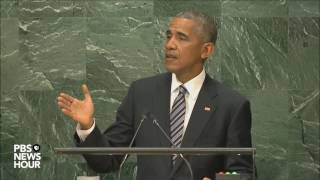 Watch President Obama deliver his final speech at United Nations