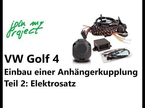 Anhängerkupplung am Golf 4 nachrüsten Teil 2   Einbau des Elektrosatzes