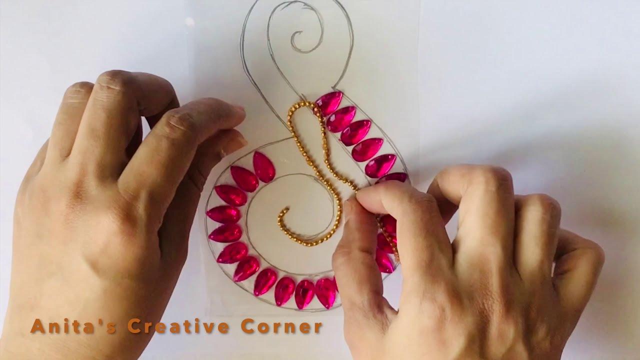 how to make rearrangable kundan rangoli design by anita