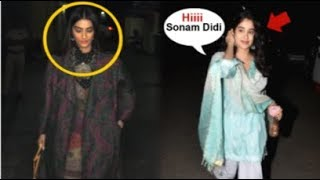 Sonam Kapoor IGNORES Jhanvi Kapoor In Front Of Media At India's Most Wanted Movie Screening