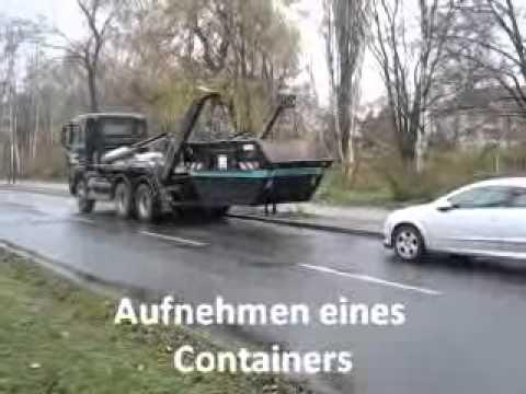 DINO Container absetzen und aufnehmen durch Containerdienst Berlin