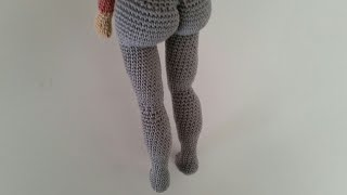 Realistic Crochet Doll Body / Legs
