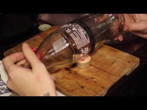 Tutorial come tagliare una bottiglia di vetro per fare un bicchiere