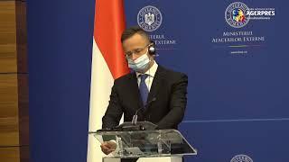Conferinţa de presă comună a miniştrilor de externe român şi maghiar, sediul MAE