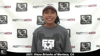 2021 Kiana Briseño Outfield Softball Skills Video - Firecrackers