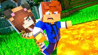 MY GIRLFRIEND PUSHED ME IN LAVA !? || Minecraft Academy