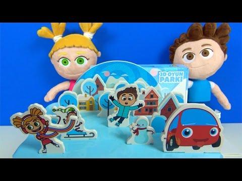 Kukuli peluş oyuncaklarıyla Kukuli 3D Oyun Parkı setini açıyoruz - Kukuli Parkta Tinky Minky Parkta