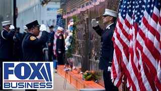 9/11 Memorial Museum ceremony at the World Trade Center