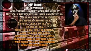 MF DOOM/Danger DOOM - Sofa King [Lyric Video]