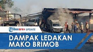 Dampak Ledakan di Gudang Penyimpanan Mako Brimob, Satu Anggota Terluka, Sejumlah Truk Rusak Berat