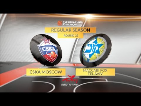EuroLeague Highlights RS Round 23: CSKA Moscow 93-81 Maccabi FOX Tel Aviv