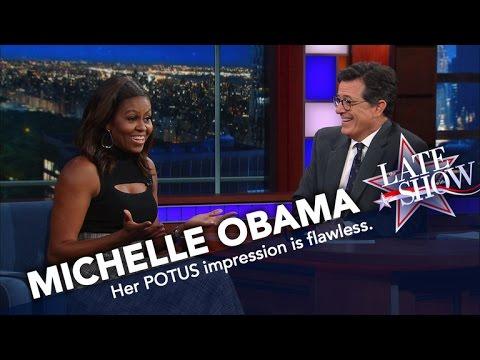 First Lady Michelle Obama Does Her Best Barack Impression