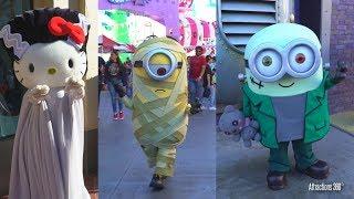 [4K] Minions & Hello Kitty in Halloween Costume - Universal Studios Hollywood