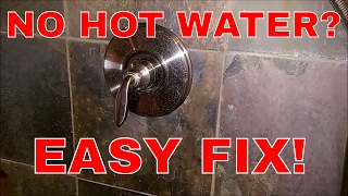 Fixing A Single Handle Shower Fixture With No Hot Water!