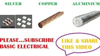 METAL CONDUCTOR SILVER/ COPPER/ ALUMINUM , BEST CONDUCTOR FOR USE