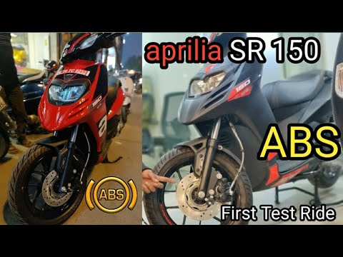 New Aprilia SR 150 ABS 2019  || INDIA First Scooter With ABS || First Test Ride Review