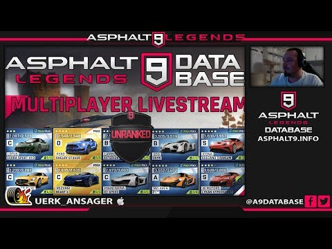 Asphalt 9 Legenden Livestream 16.10.18 10: 30pm (GMT + 2)