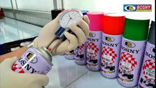 Аэрозольная краска BOSNY белая (глянцевая, 520 мл., 300 гр.) от компании Мир Очистителей - видео