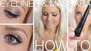 Beginners Eyeliner, Mascara, Eyebrows ♡ How To Wing Your Eyeliner