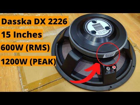 Dasska DX 15 2226 15 Inch DJ Speaker 600W
