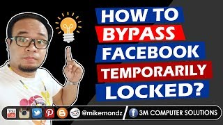 How to Unlock Facebook Account Temporarily Locked | Solved