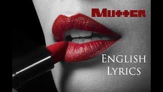 "RAMMSTEIN ""Mutter"" English Lyrics HD"