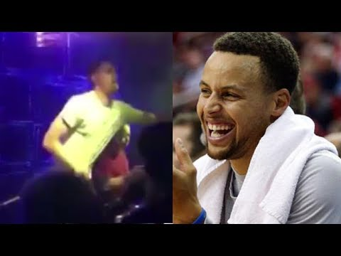 Steph Curry Loses His Sh*t Watching Klay Thompson Dance in China