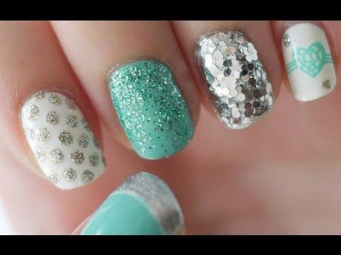 Tiffany Blue & Silver Nail Tutorial (Konad Stamping)