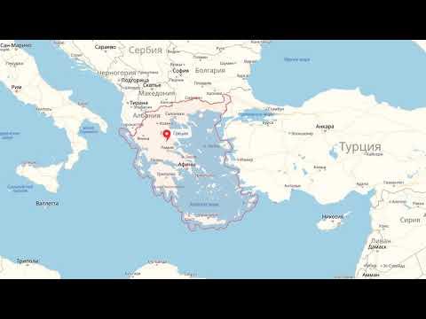 Где находится Греция? — страна на карте мира
