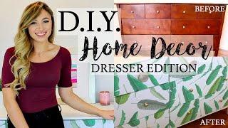 D.I.Y. HOME DECOR   HOW TO REDO A DRESSER WITH WALLPAPER   Alexandra Beuter