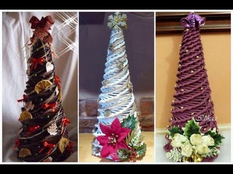 How to make Christmas tree by paper, news paper rolls, Xmas tree by paper 2017 December