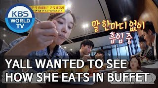Yall wanted to see how the trainer Dongeun eats in buffet [Boss in the Mirror/ENG/2019.12.01]