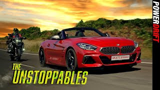BMW Z4 vs R 1250 GS featuring The Unstoppable Jack Ryan! : PowerDrift