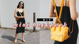 DIY MINI BACKPACK ✨🎒✨(Anello Style) | WITHWENDY