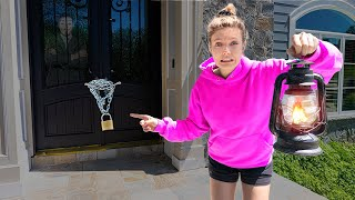 24 Hours Overnight Challenge Home Alone Locked Out of Sharer Family House!! (No Answer)