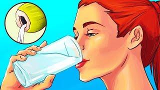 Trinke täglich 1 Glas Kokosnusswasser 2 Wochen lang und sieh, was passiert
